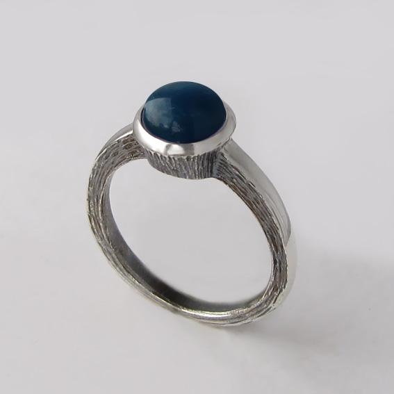 Кольцо с апатитом, арт. ПФ38