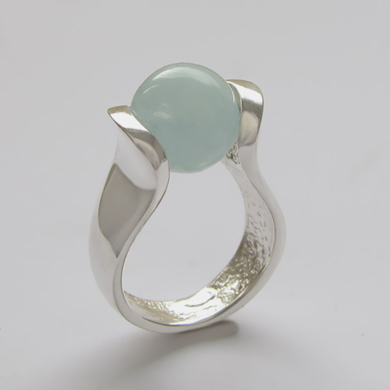 Кольцо с аквамарином, арт. МРС3