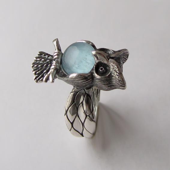 Кольцо с аквамарином, арт.ФИЛ3