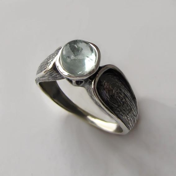 Серебряное кольцо с аквамарином, арт. ПФЧ36