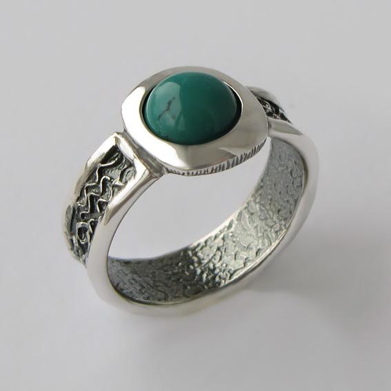 Кольцо с бирюзой, арт. ИЕ3
