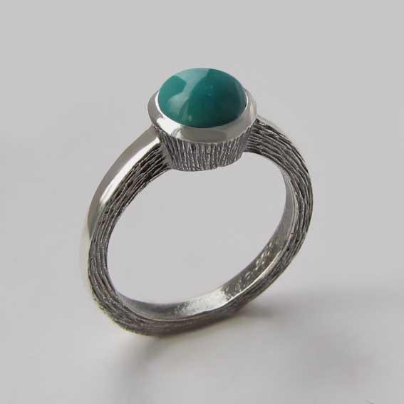 Кольцо с бирюзой, арт.ПФ38