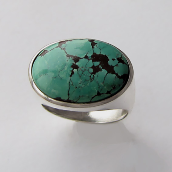 Кольцо из серебра с бирюзой, арт.ВОВ313-2