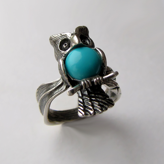 Кольцо с бирюзой, арт. ФИЛ3