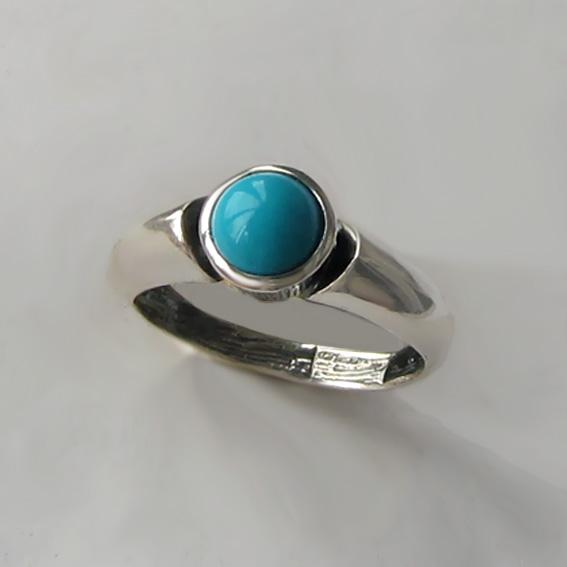 Кольцо с бирюзой, арт. ПФ36