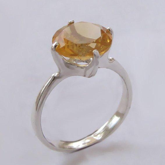 Кольцо с цитрином, арт.43310