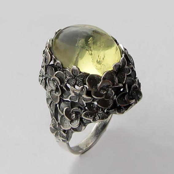Кольцо с цитрином, арт. БУК3