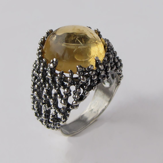 Кольцо с цитрином, арт. ГАУ3
