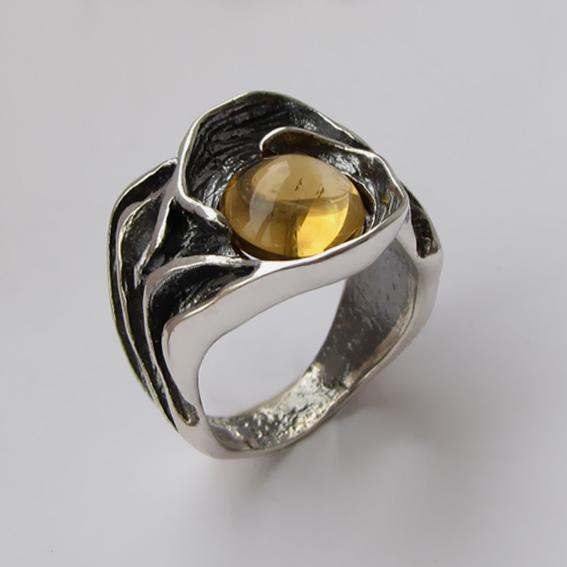 Кольцо с цитрином, арт.ИЗР3