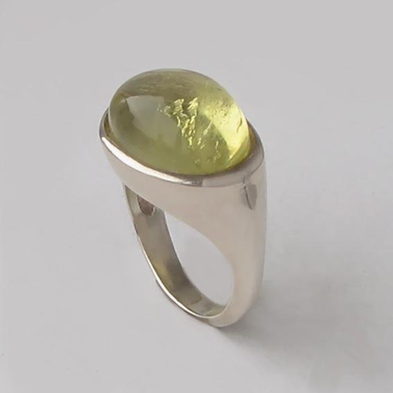 Кольцо с цитрином, арт. КОВ312