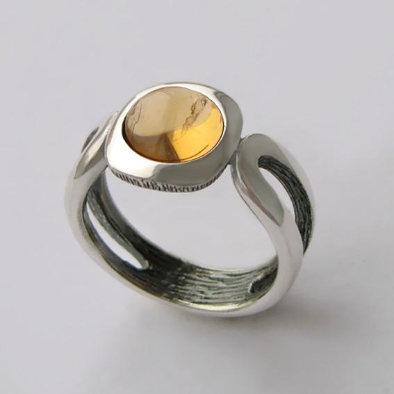 Кольцо с цитрином, арт. ЛСП3