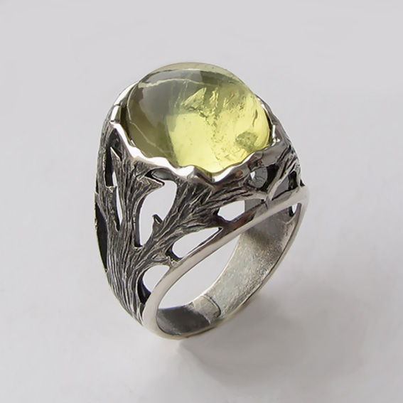 Кольцо с цитрином, арт. ЛИН32