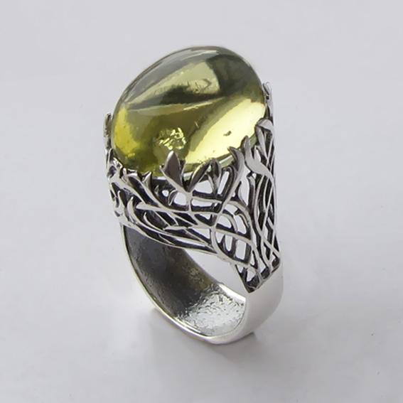 Кольцо с цитрином, арт. ЛИ313