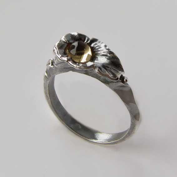 Кольцо с цитрином, арт.ЛИС35