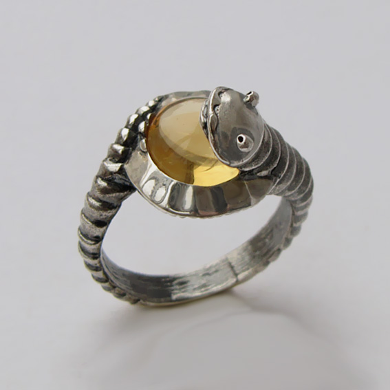 Кольцо с цитрином, арт.ОНО3