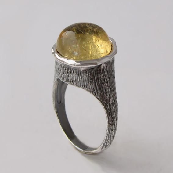 Кольцо с цитрином, арт. ПЕ3Н
