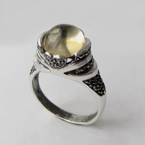 Кольцо с цитрином, арт. ПЕБА3
