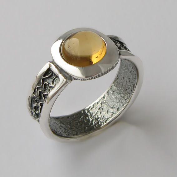 Кольцо с цитрином, арт. ИЕ3