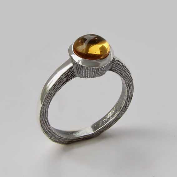 Кольцо с цитрином, арт. ПФ38