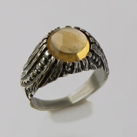 Кольцо с цитрином, арт. ПР3