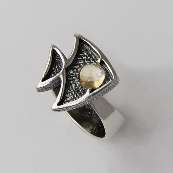 Кольцо с цитрином, арт.РЫБ35