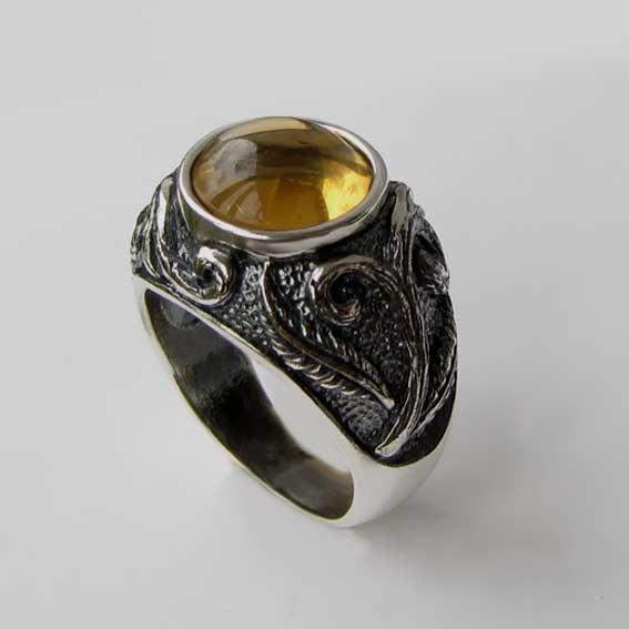 Кольцо с цитрином, арт. ШАХ3М