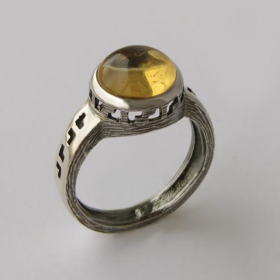 Кольцо с цитрином, арт. СКИФ3ЧН