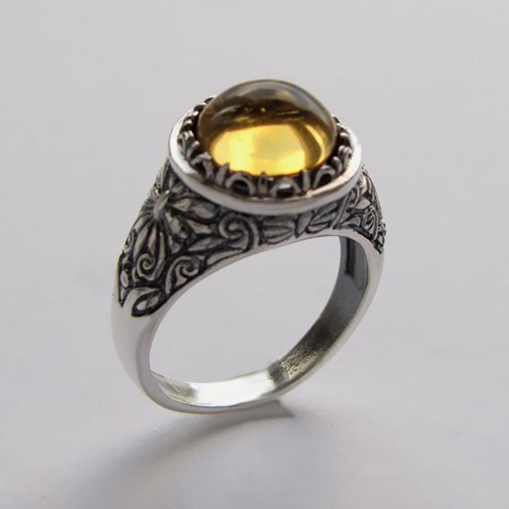 Кольцо с цитрином, арт.ТЕРН3