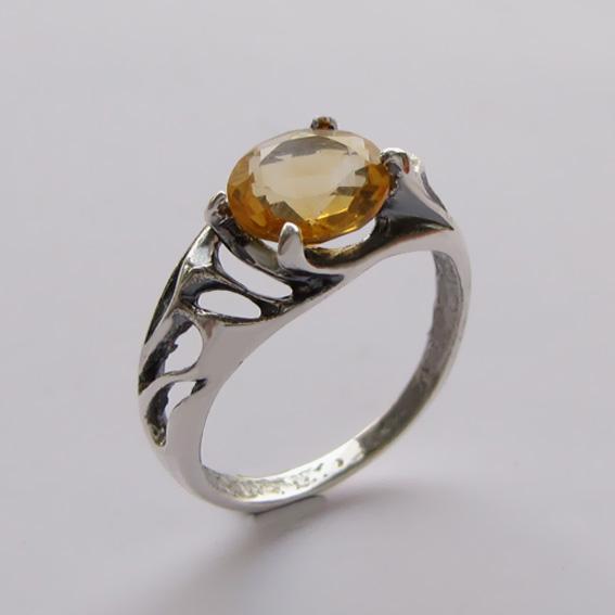 Кольцо с цитрином, арт.ВЕ3