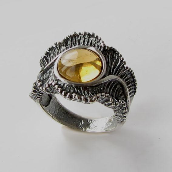 Кольцо с цитрином, арт. ВОЛ32
