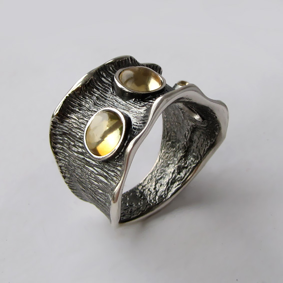 Кольцо с цитрином, арт. ВОЛ36