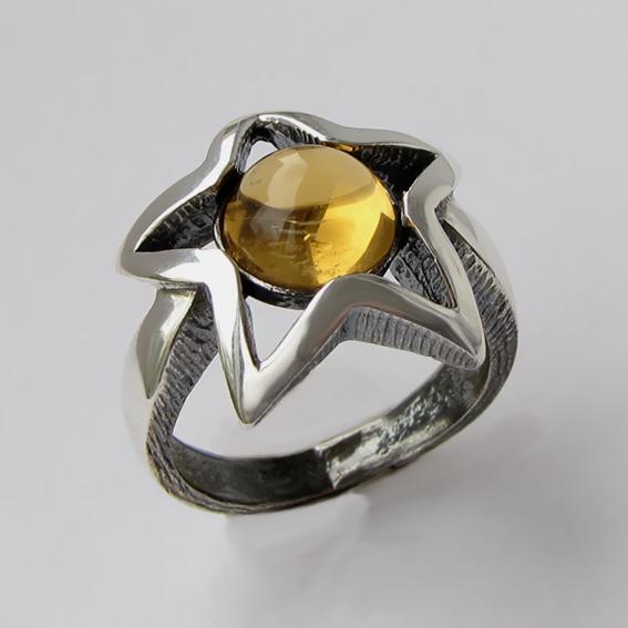 Кольцо с цитрином, арт. 3В3