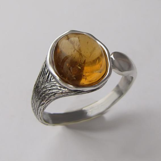 Кольцо с цитрином, арт. ЧОВ3
