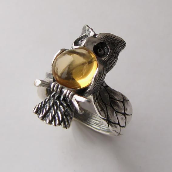 Кольцо с цитрином, арт. ФИЛ3