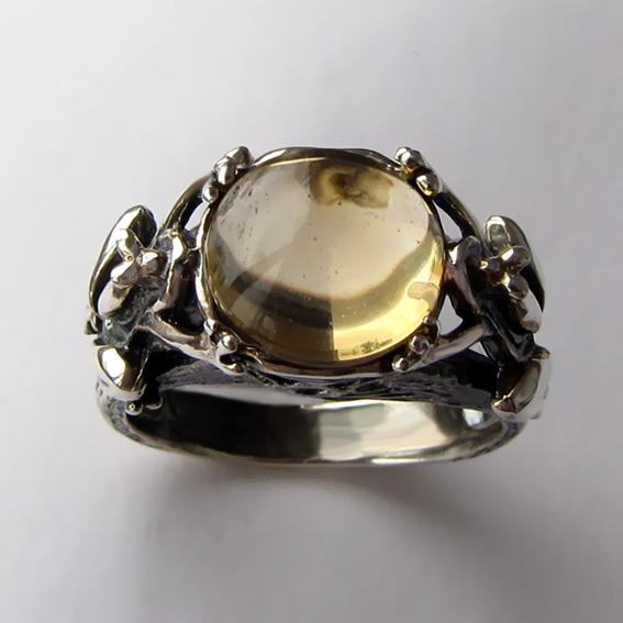 Кольцо с цитрином, арт. ЛЯ3