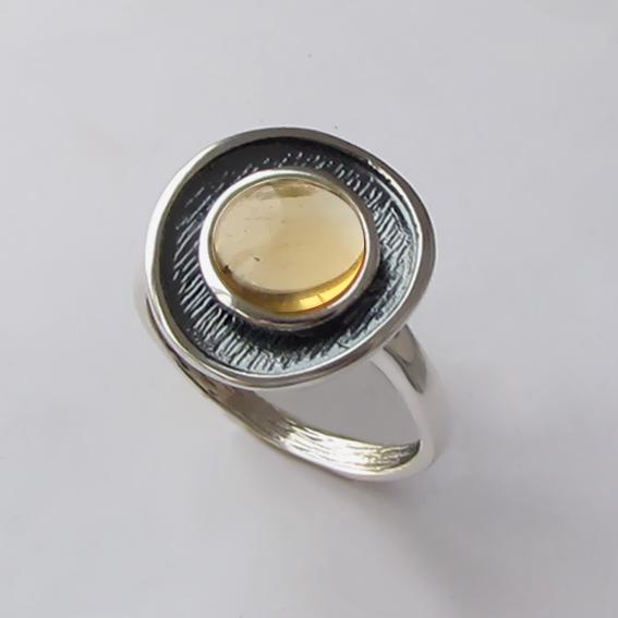 Кольцо с цитрином, арт. МСБ3