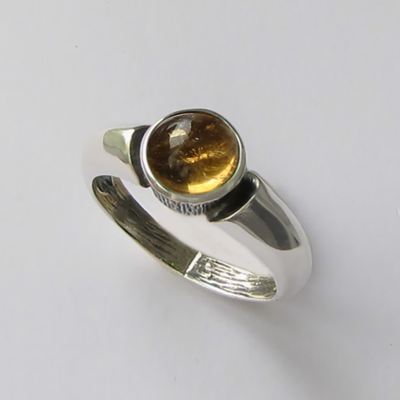Кольцо с цитрином, арт. ПФ36