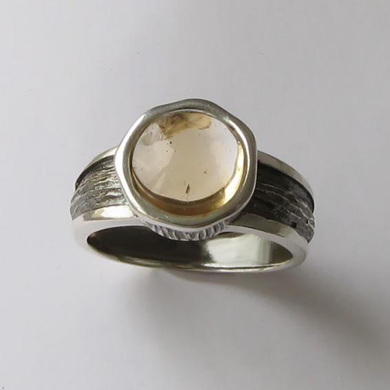Кольцо с цитрином, арт. ПФ39