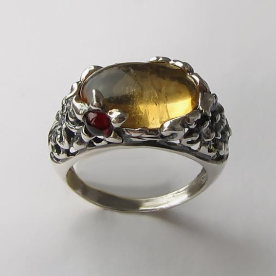 Кольцо с цитрином, арт. ВЯ3