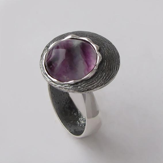 Кольцо с флюоритом, арт.КЧ312Н