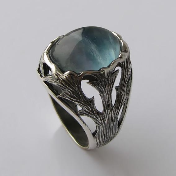 Кольцо с флюоритом, арт.ЛИН312