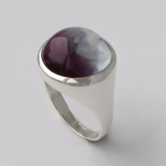 Кольцо с флюоритом, арт.НКН315