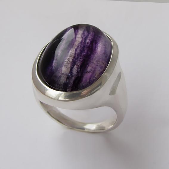 Кольцо с флюоритом, арт.ОВН315-2