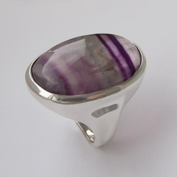 Кольцо с флюоритом, арт.ОВН318