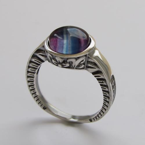 Кольцо с флюоритом, арт.СКИФ3