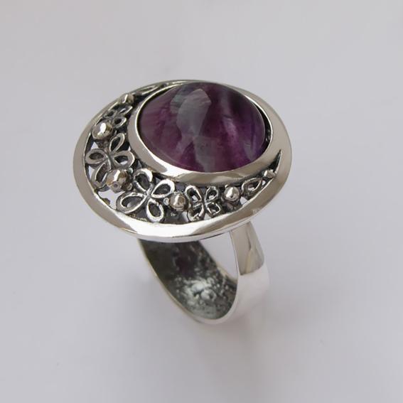 Кольцо с флюоритом, арт.УЗ312