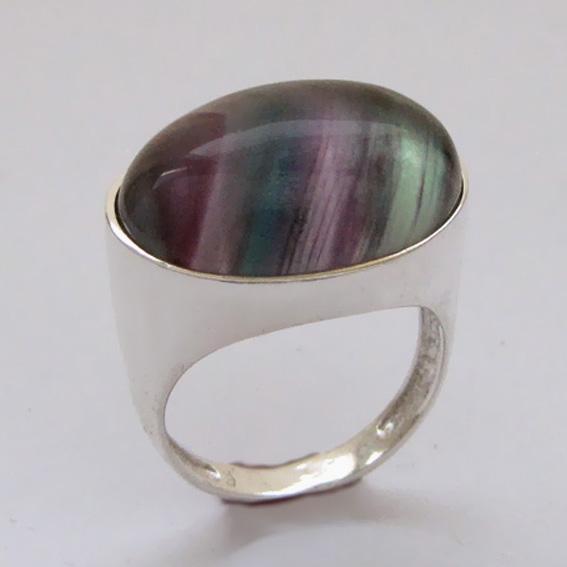Кольцо с флюоритом, арт.ВОВ315