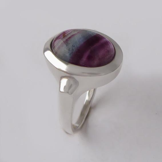 Кольцо с флюоритом, арт.ЗЕ310