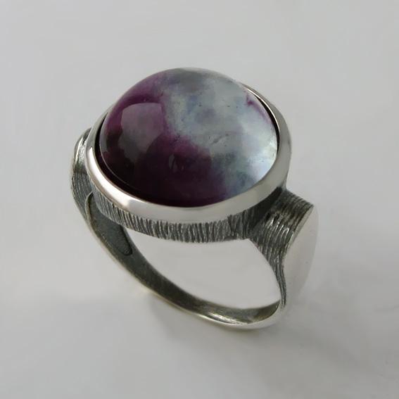 Кольцо с флюоритом, арт.ЗЕК315Ч