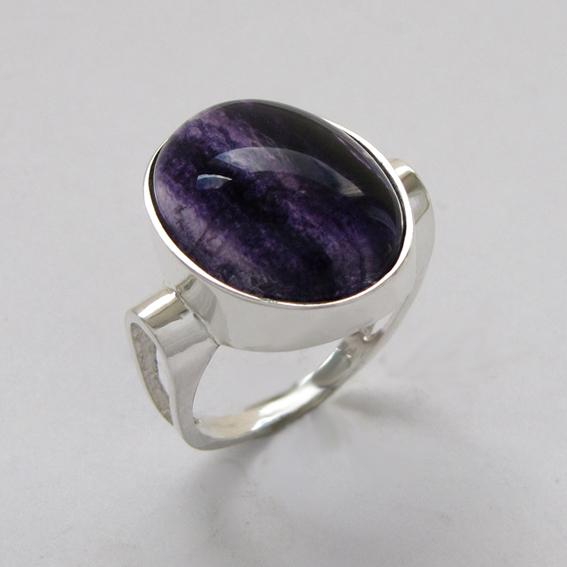 Кольцо с флюоритом, арт.ЗЕ3-2